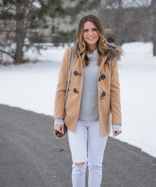 How to Wear White Denim in Winter