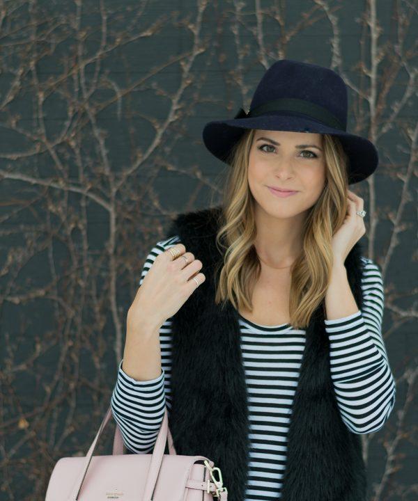 Faux Fur and Felt Hat