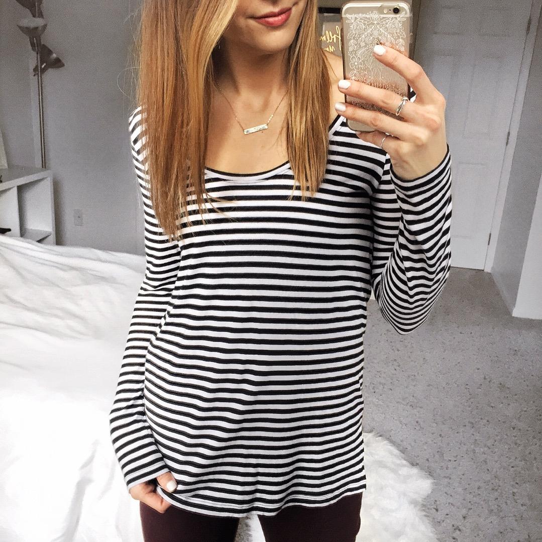 Black-and-White-Stripe-Top