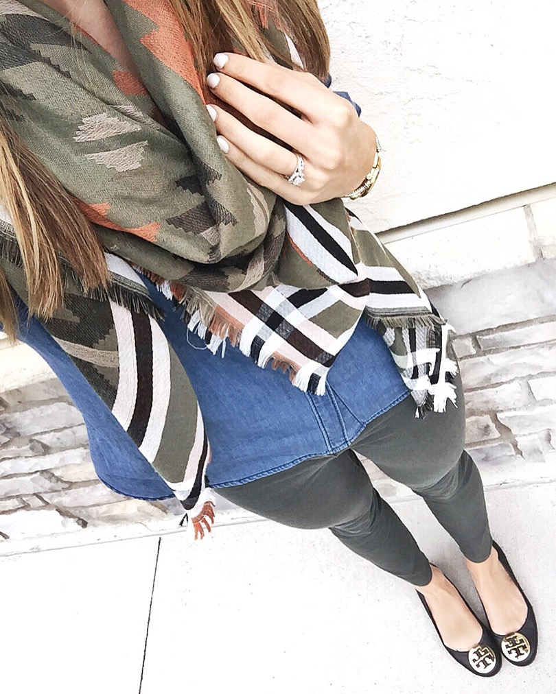 Chambray-Olive-Pants-Outfit