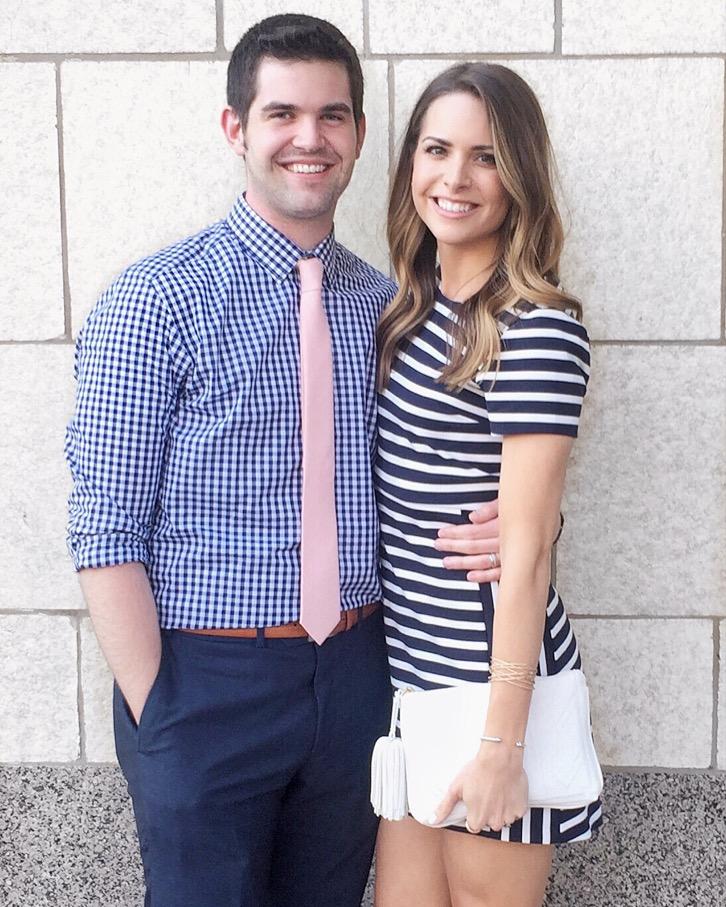 Express-Navy-Stripe-Dress