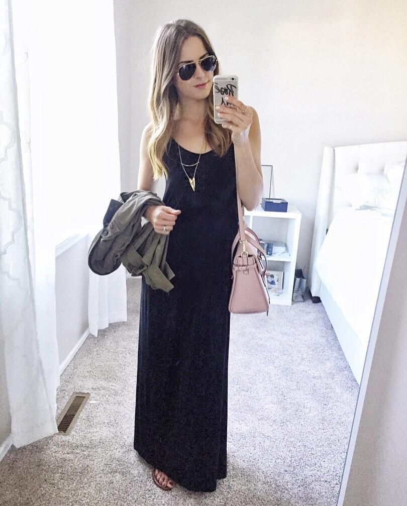 lush-black-knit-maxi-dress