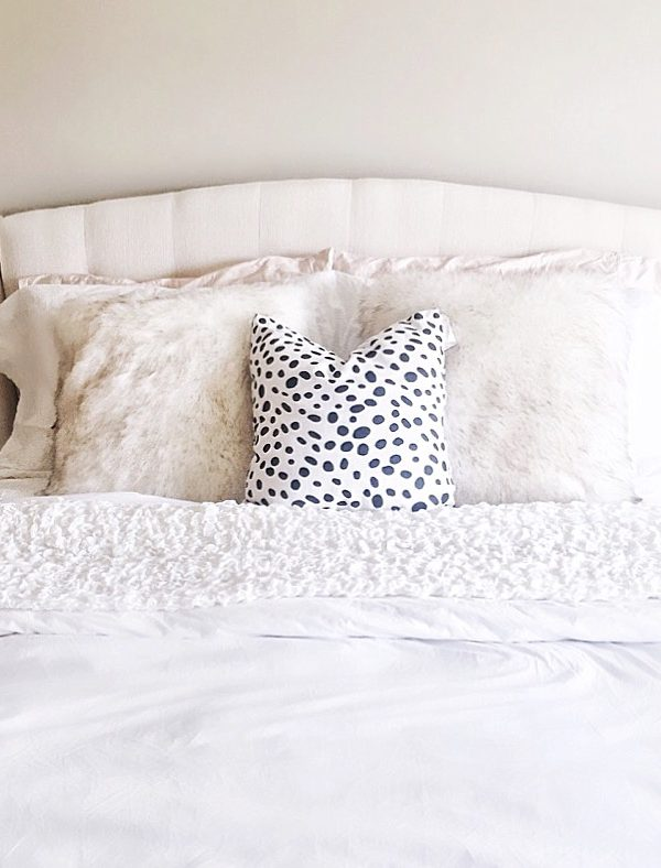 Dalmation-pillow-neutral-bedroom