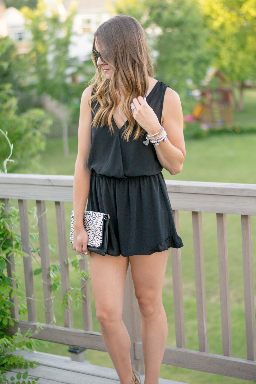 ASTR-Black-Sleeveless-Romper