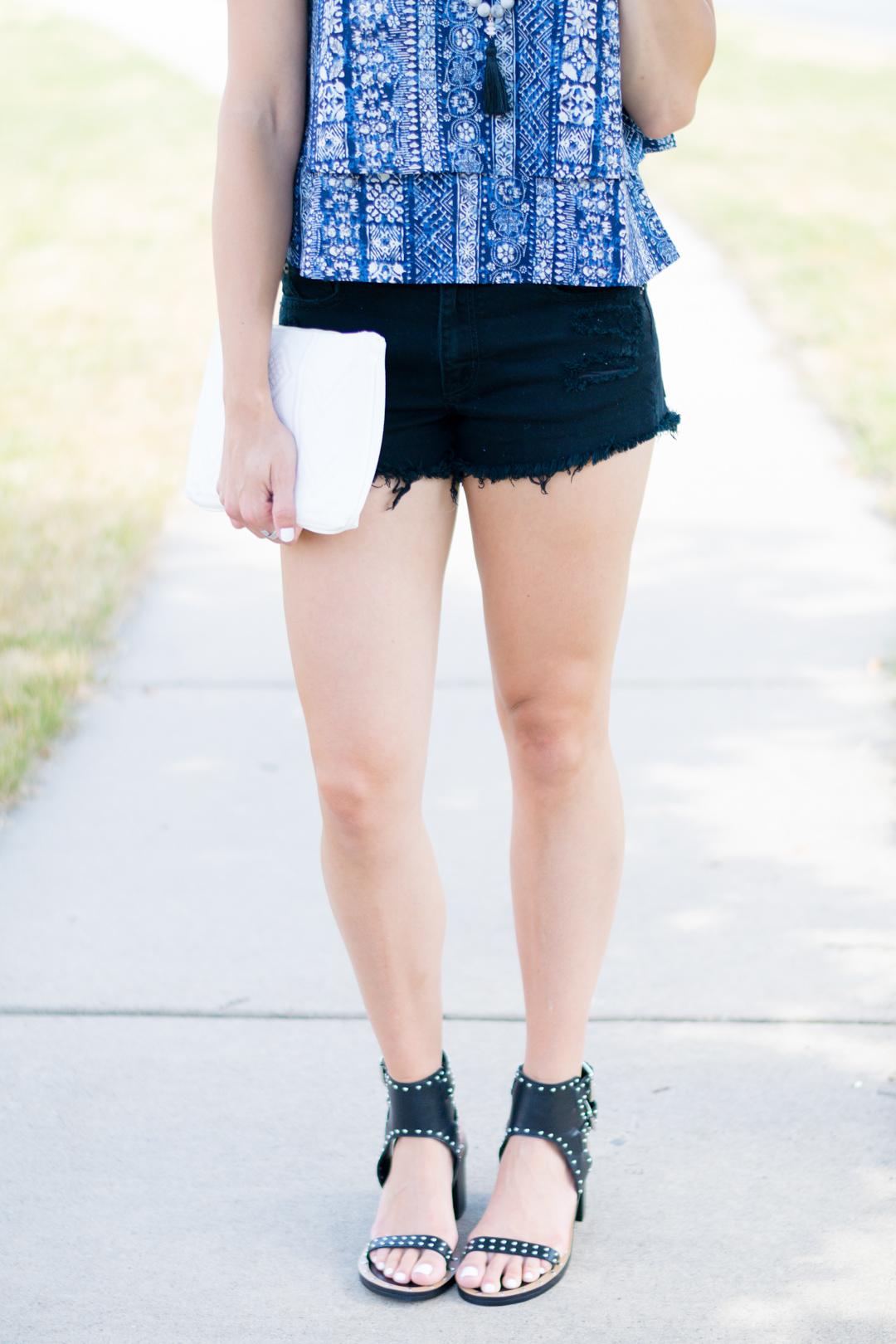 Studded Block Heels