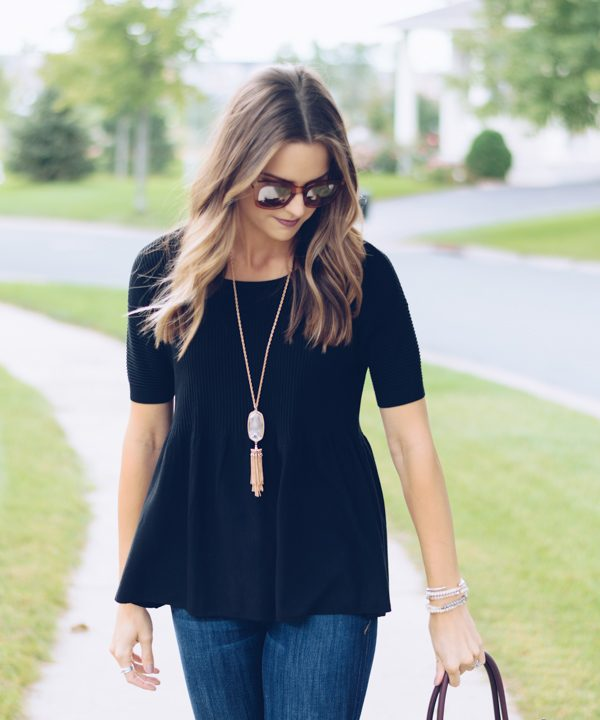 Black Peplum Sweater