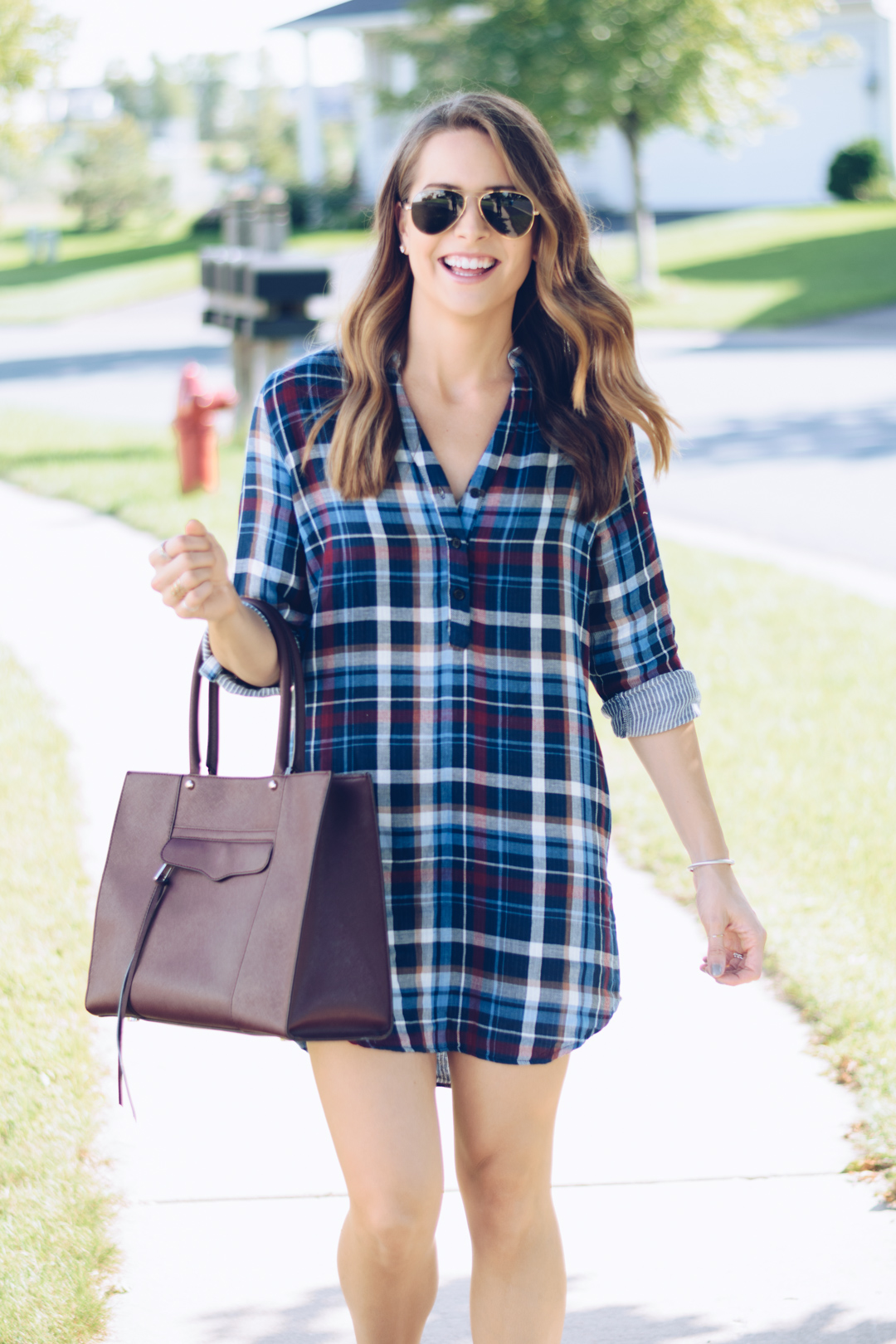 Flannel Shirt Dress The Styled Press