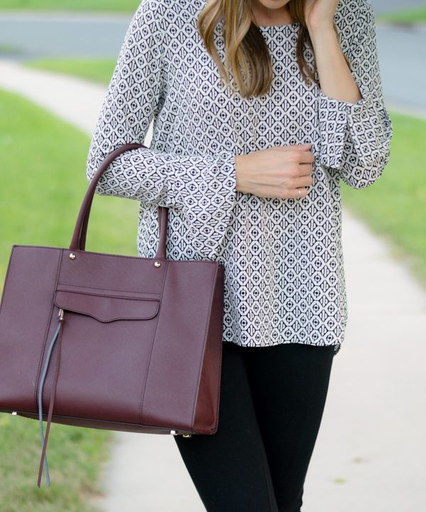 Wear to Work: Bell Cuff High-Low Blouse