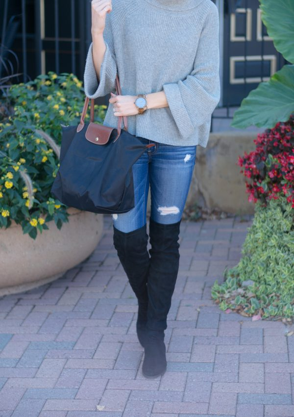 Cowl Neck Pullover Sweater + Wood Watch Giveaway