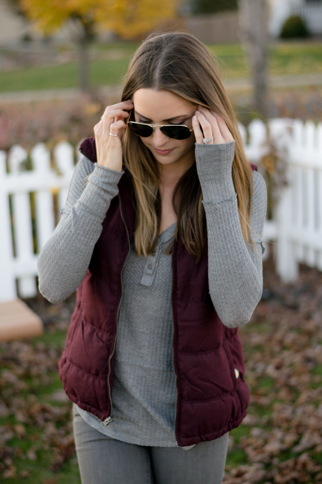 Wine Puffer Vest The Styled Press