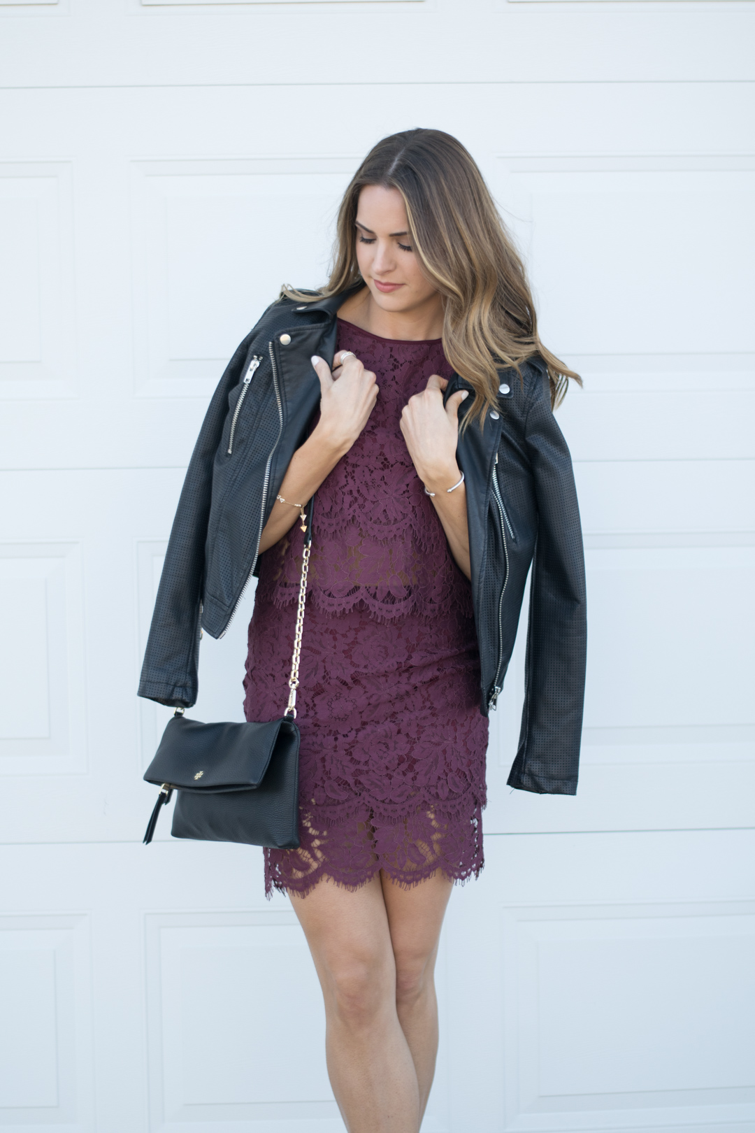 Holiday Style Burgundy Lace Two Piece Dress The Styled
