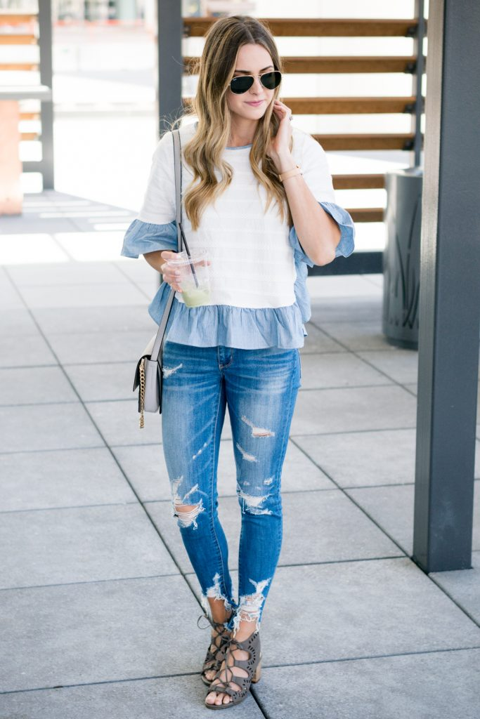 minneapolis fashion blogger, mn style blogger, distressed denim outfit, minneapolis fashion blogger, mn style bloggers