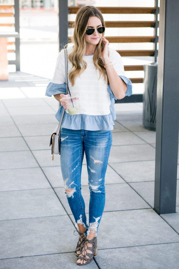minneapolis fashion blogger, mn style blogger, distressed denim outfit, minneapolis fashion blogger, mn style bloggers