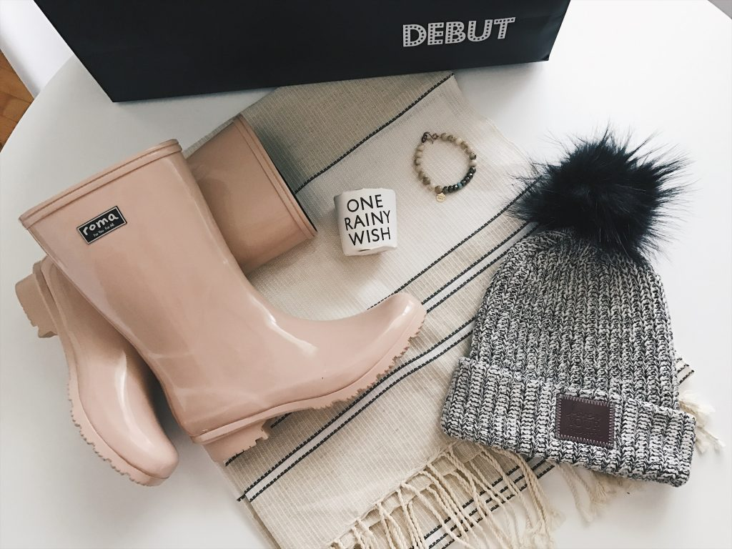 Roma pink rain boots, love your melon pom beanie, fashion blogger, smile network, pab's packs, house of talents, debut mall of america, shop for kindness, giving back Minneapolis,