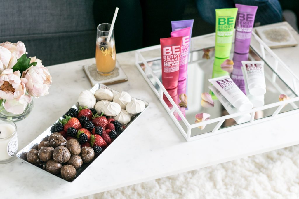 Minneapolis beauty blogger, formula 10.0.6 be berry skincare collection review, best drug store face masks, deep cleaning skincare, natural glow face products