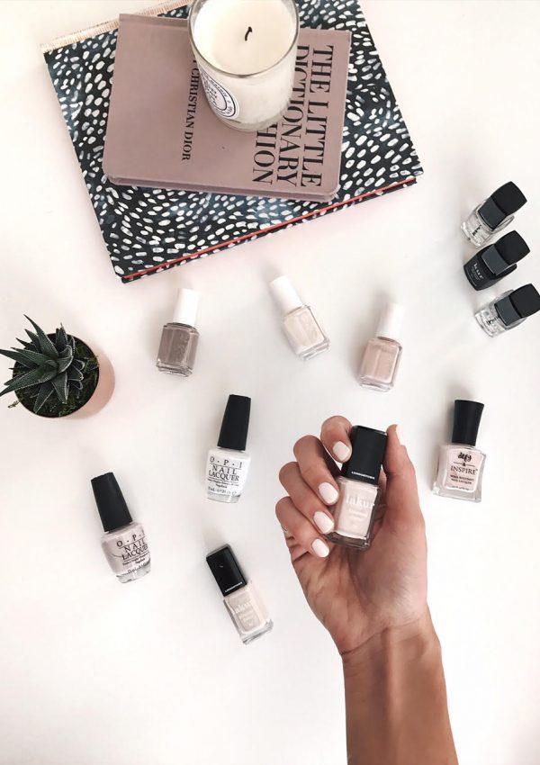 favorite neutral nail polish, best neutral nail polish colors, 2017 best white nail polish, favorite nude nail polish, light colored nail colors at target