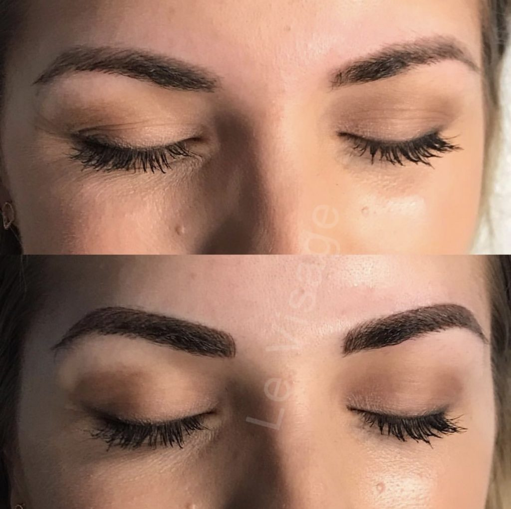 post touch-up microblading, microblading experience and review, Minneapolis microblading