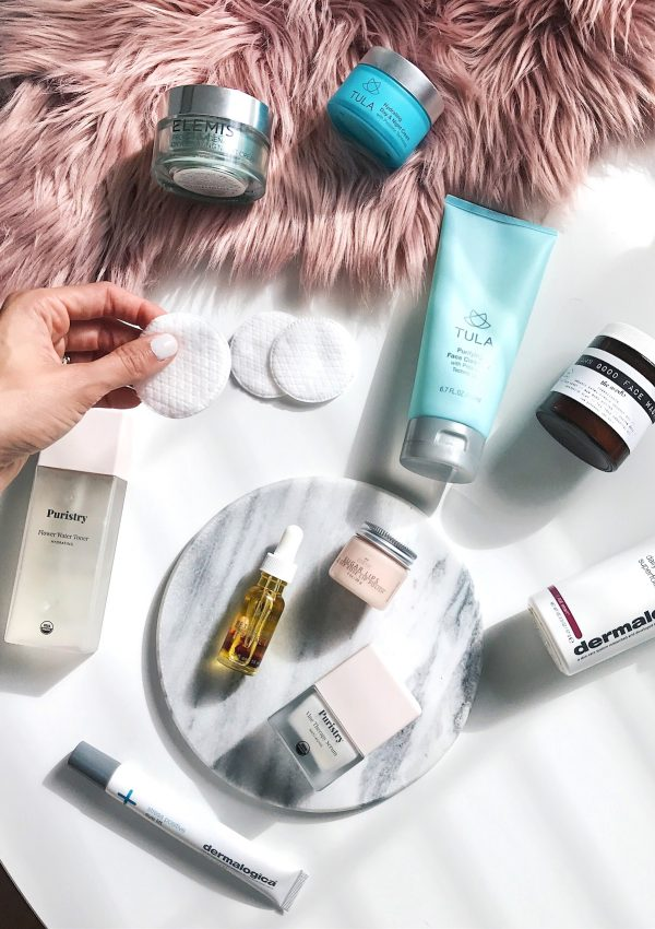 best skincare products 2017, blogger skincare regimen, tula review, dermalogica, puristry, damn good face wash, be zoetic petal drops