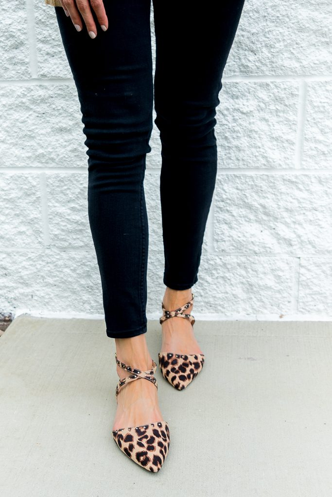 albertville mall outlet finds 2017, Minneapolis fashion blogger, affordable work wear outfits, old navy leopard flats