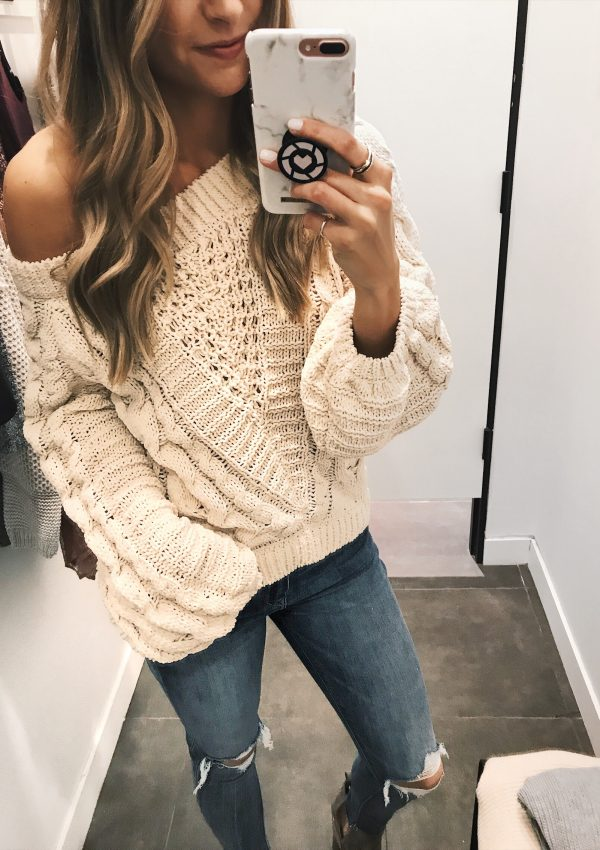 express sale favorites for fall, minneapolis fashion blogger, chunky knit sweater