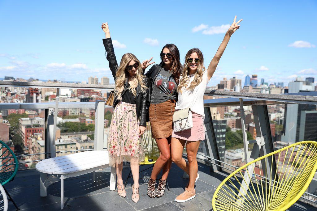 NYC rooftop, rewardstyle hq nyfw