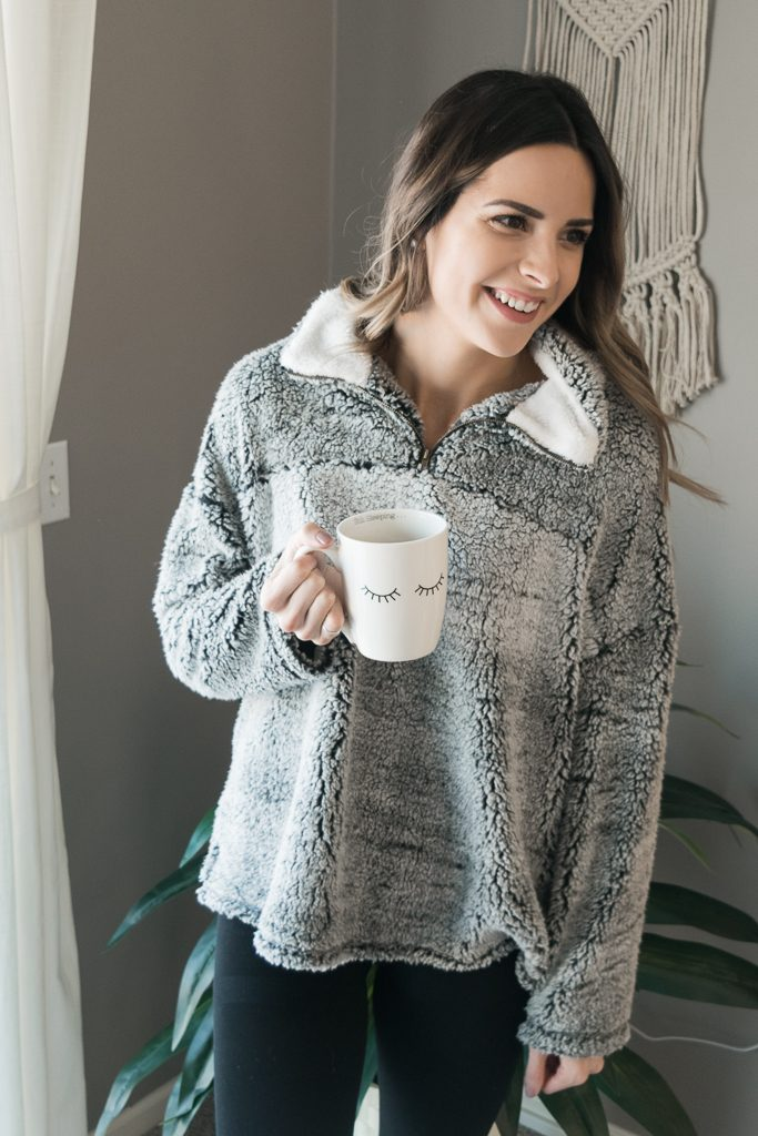 gordmans mn finds, sherpa fleece pullover, Minneapolis blogger, taylor brown