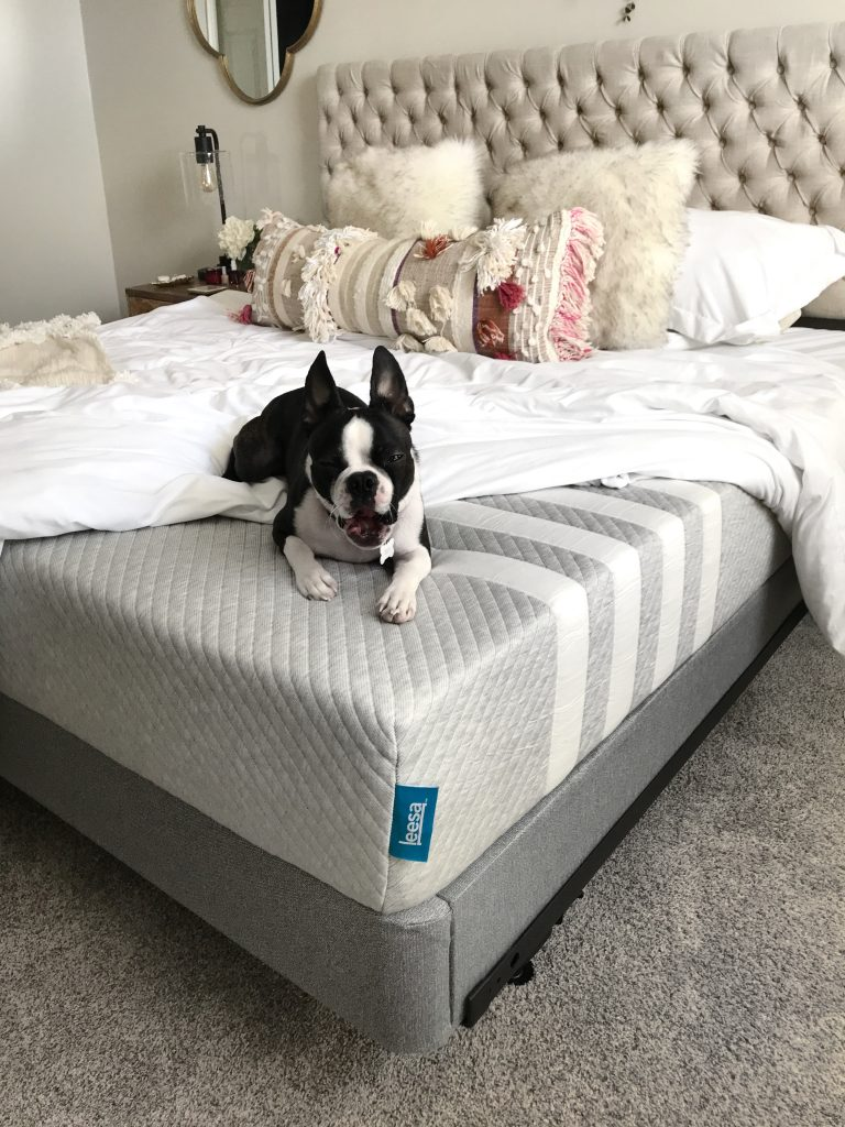 anthroplogie open market pillow, master bedroom updates, Leesa mattress review, Minneapolis blogger, boho bedroom