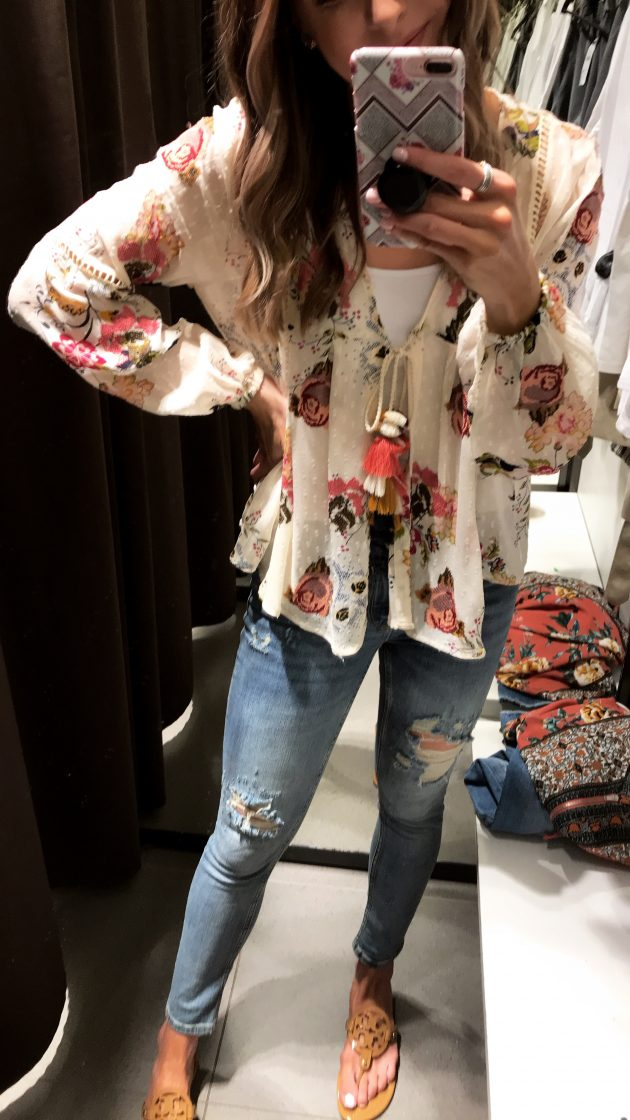zara embroidered dotted mesh blouse, fitting room diaries