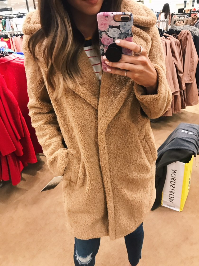 kensie faux fur teddy bear coat, nsale 2018