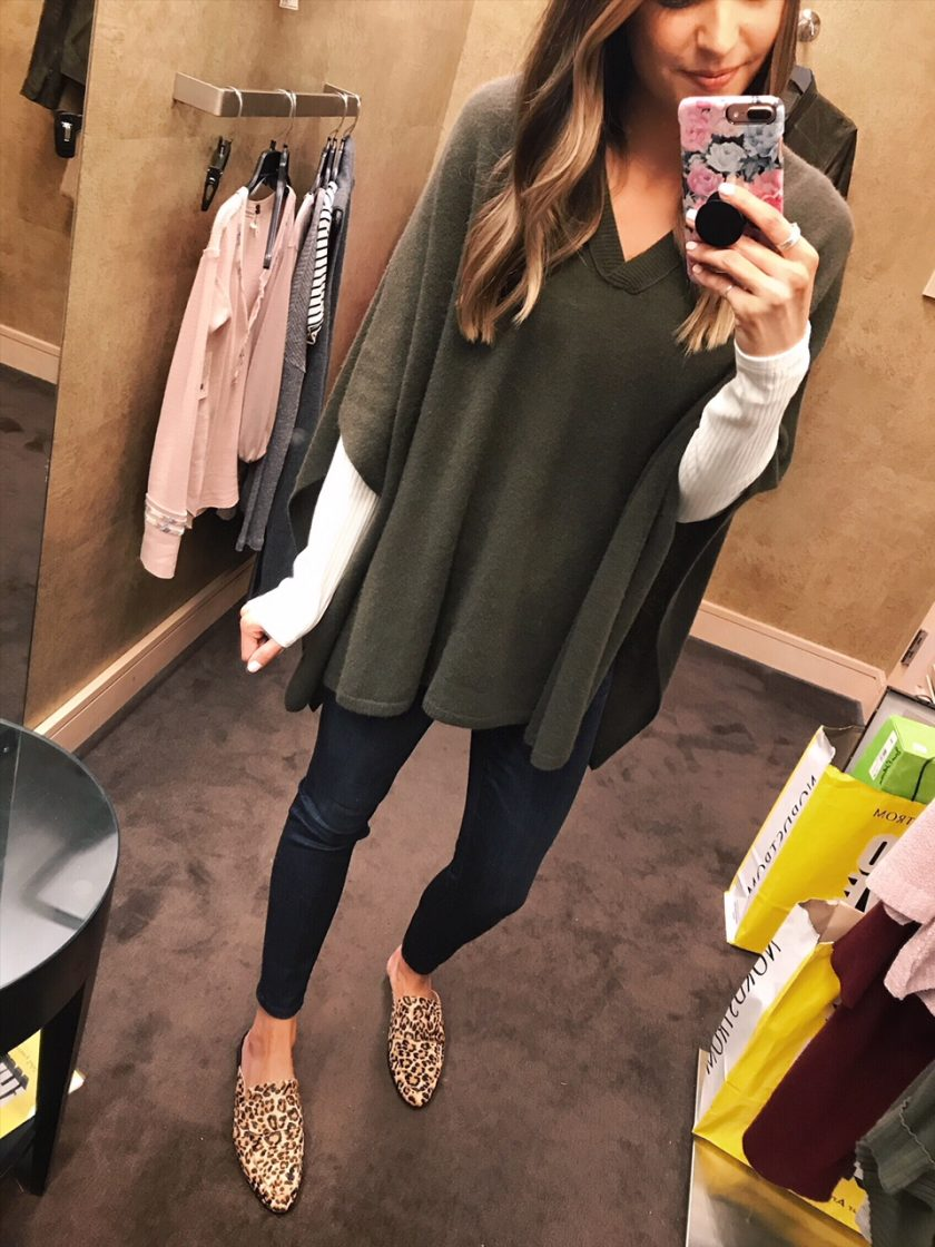 halogen cashmere poncho, fall outfits 2018, nsale
