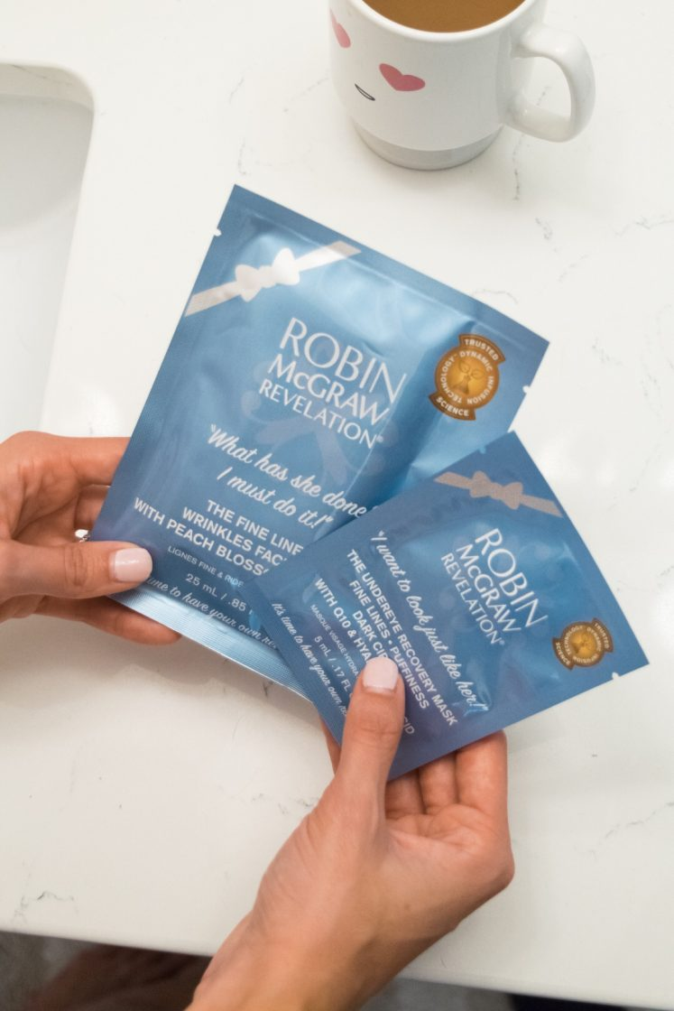 robin mcgraw revelation review, face sheet masks, fine lines and wrinkles, under eye recovery mask