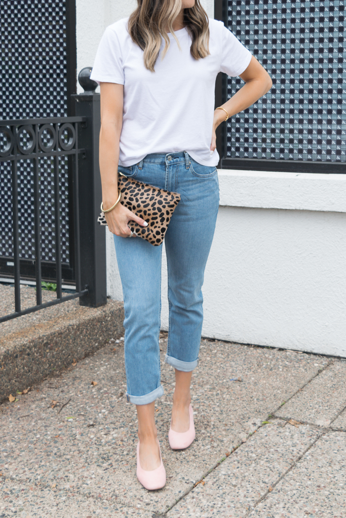 everyone back to basics, the day heel, modern boyfriend jeans