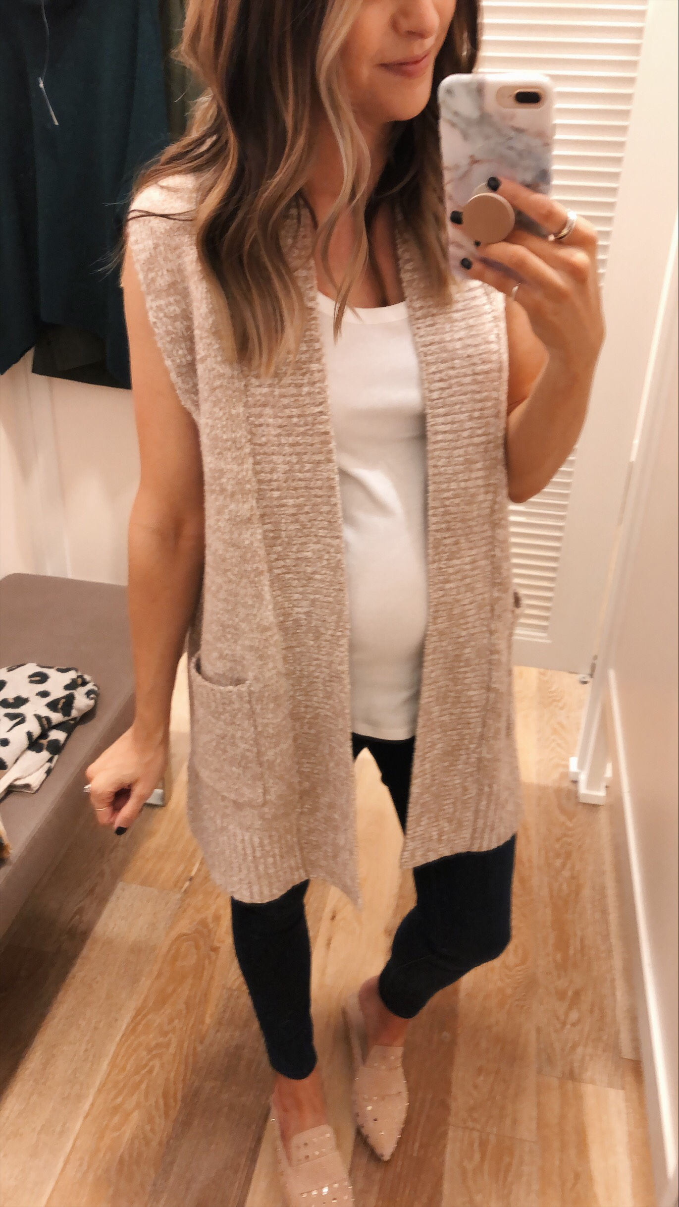 loft pocket sweater vest, loft try-on, friends and family sale