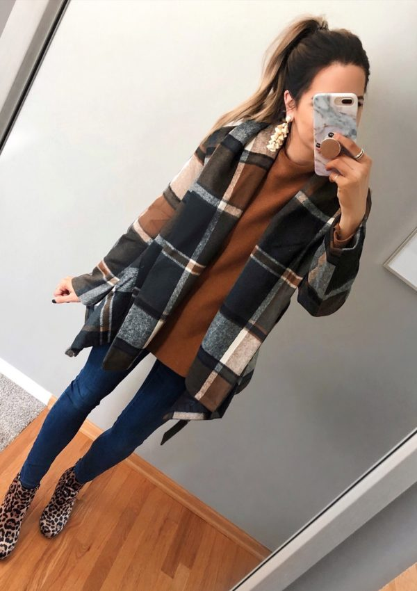chicwish prairie check rabato coat, best women's winter coats 2018, plaid jacket