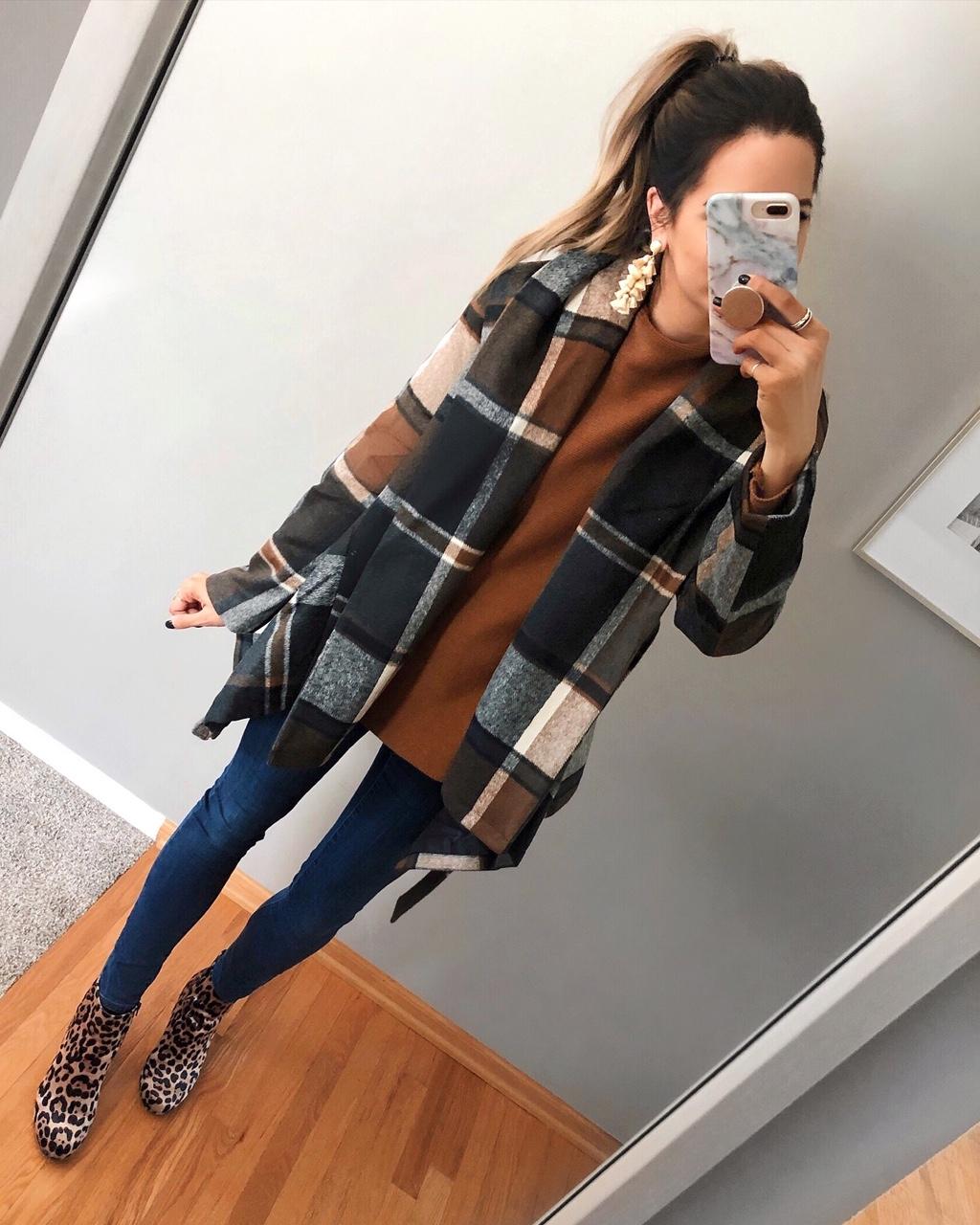 chicwish prairie check rabato coat, best women's winter coats 2018, plaid jacket