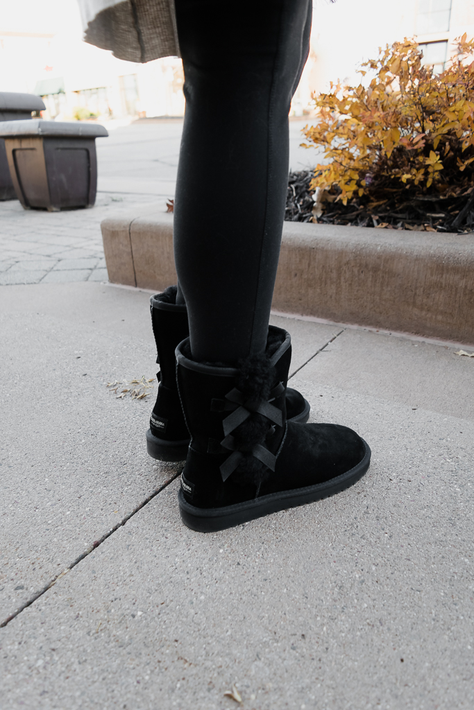 kohl's koolaburra by ugg, victoria short boots, black ugg boots outfit