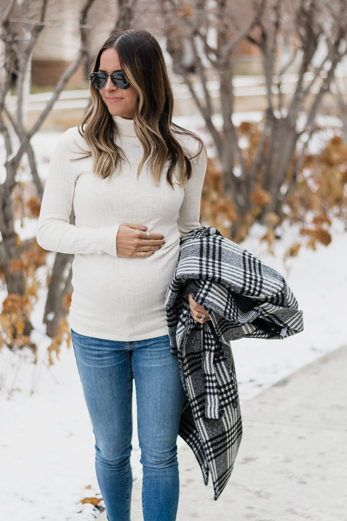 maternity wear for winter, holiday bump style, motherhood maternity, minneapolis blogger