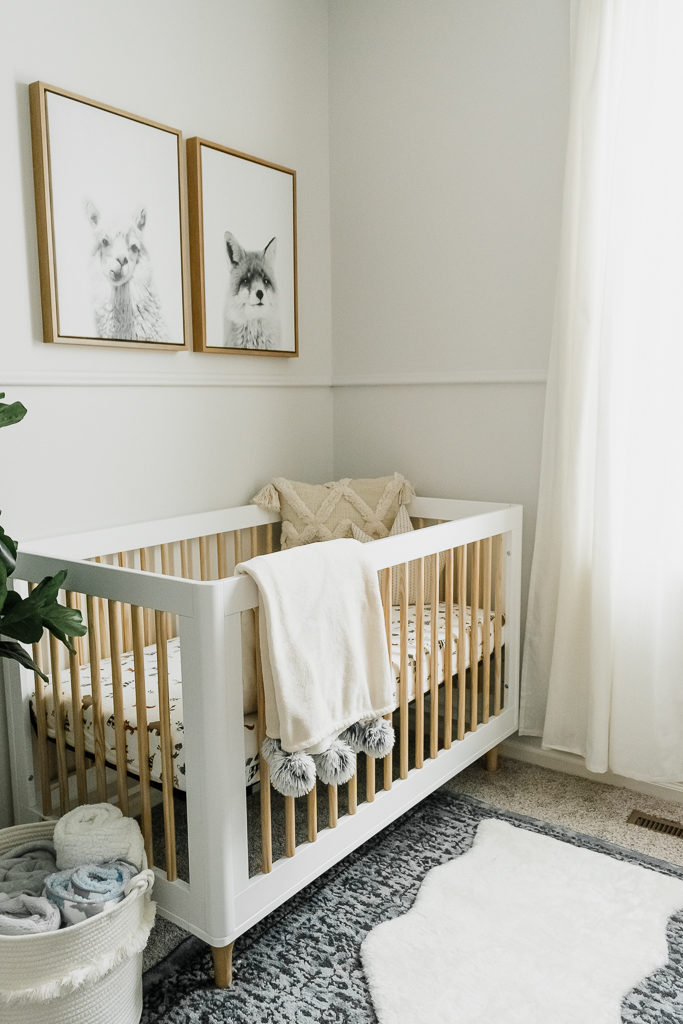 neutral boy nursery, boho nursery decor, buybuy baby, affordable nursery, babyletto lolly 3-in-1 crib