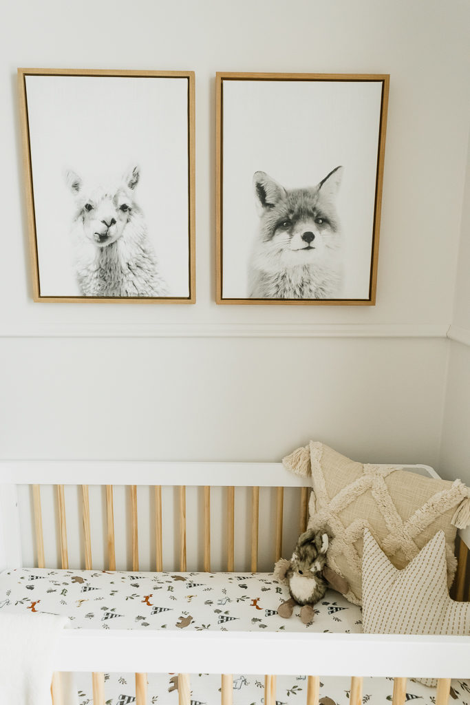 nursery animal art prints, gender neutral nursery