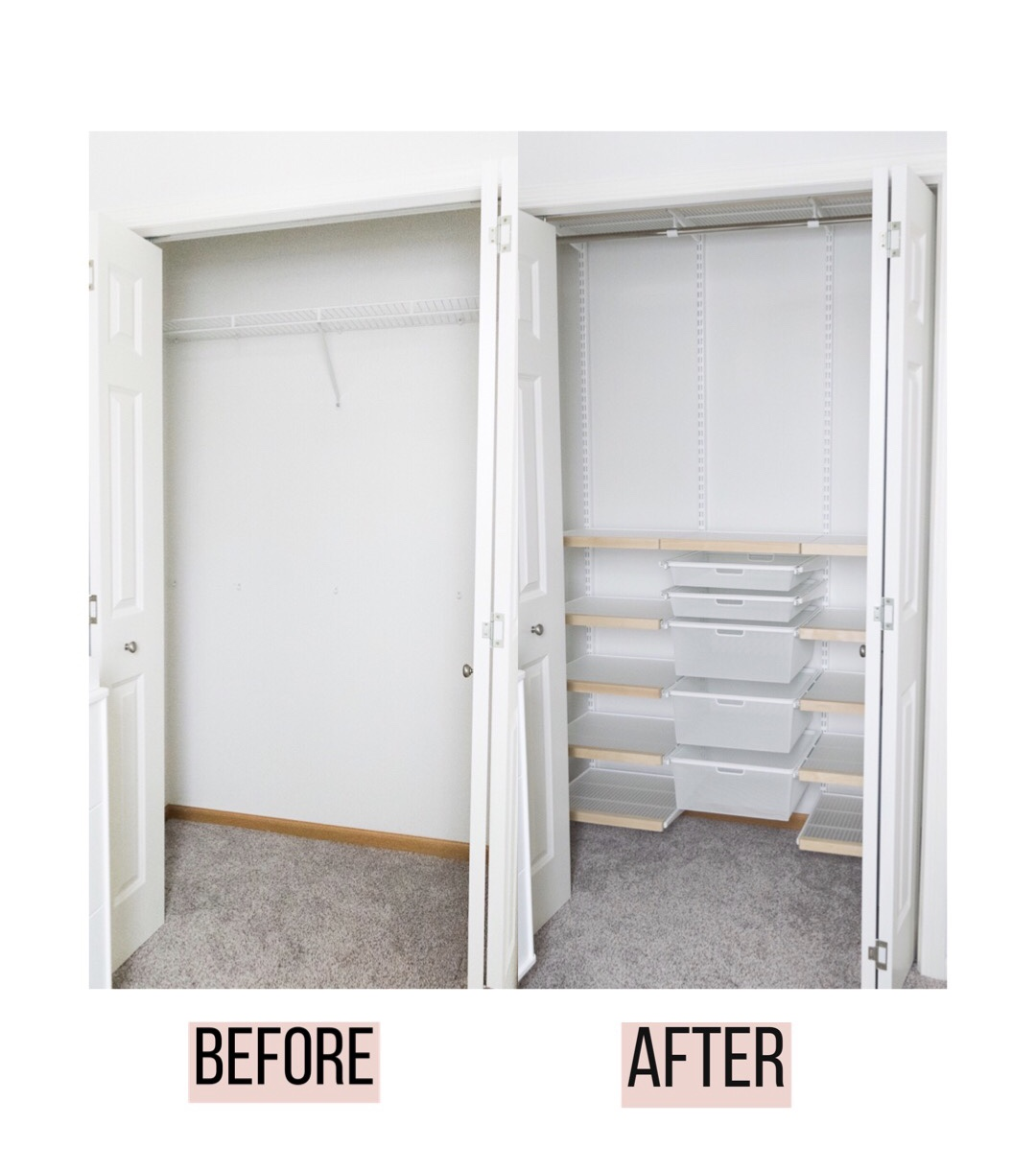 Nursery Elfa Closet System Before After The Styled Press