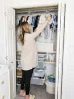 nursery elfa closet system, the container store, neat method minneapolis, nursery organization