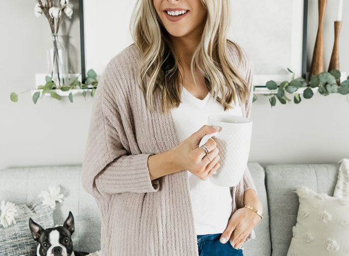 qvc tsv, today's special value, barefoot dreams cozy chic lite ribbed shrug cardi