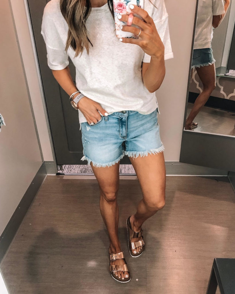 target, high waisted, jean, shorts, universal thread
