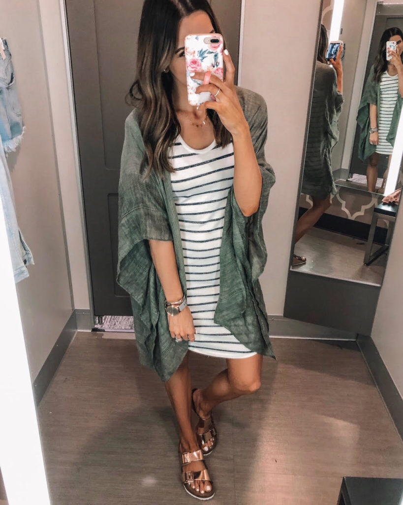 target, striped crewneck dress, a new day, kimono
