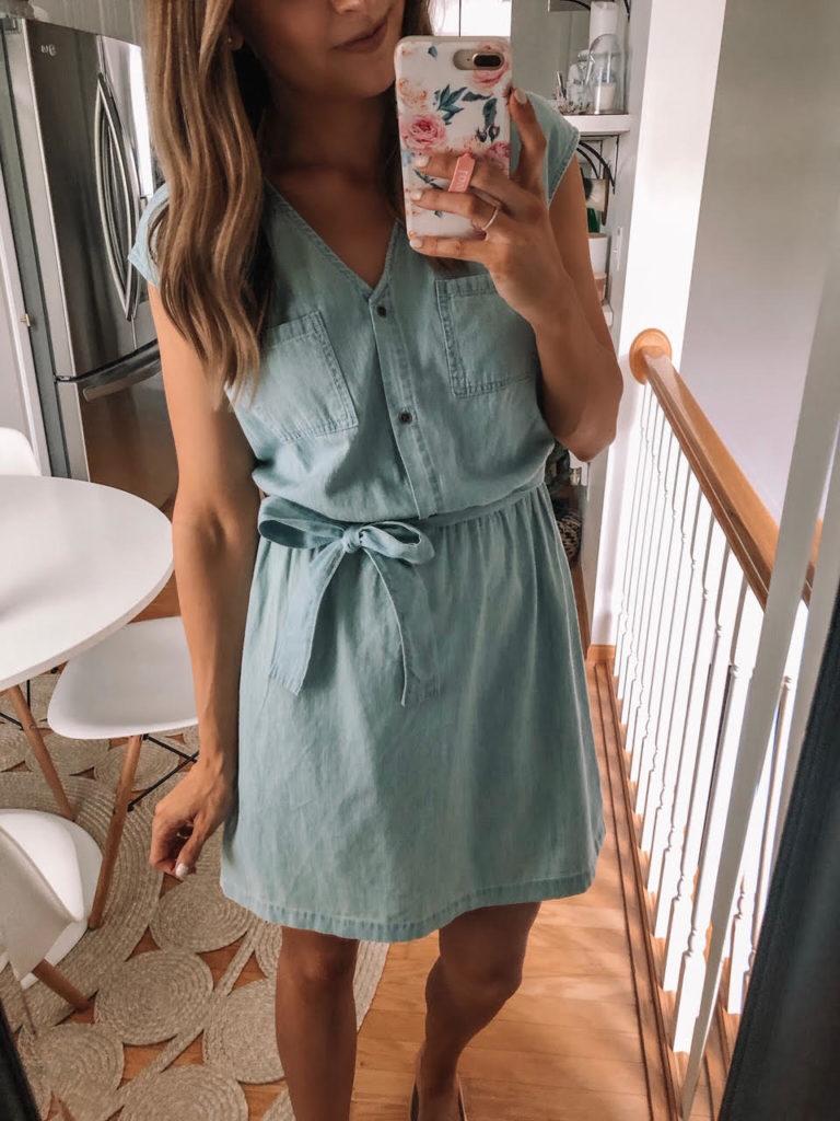 Universal Thread Belted Denim Dolman Dress, Target Haul Try On