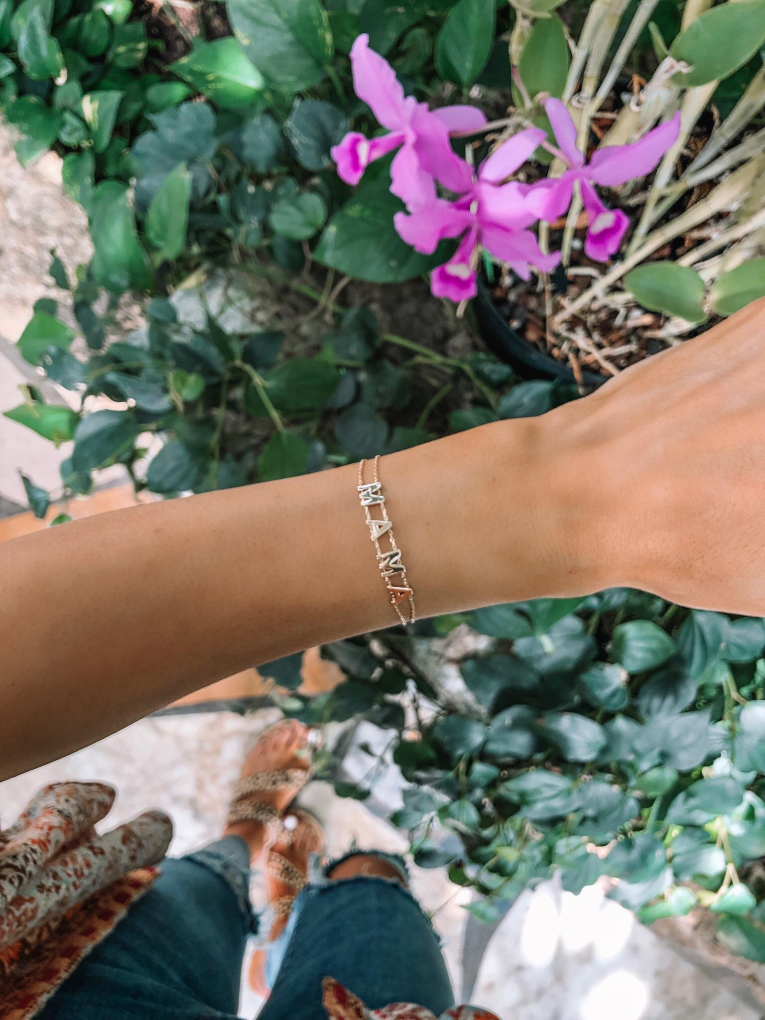 evereve Mother's Day sale 2019, gold mama bracelet