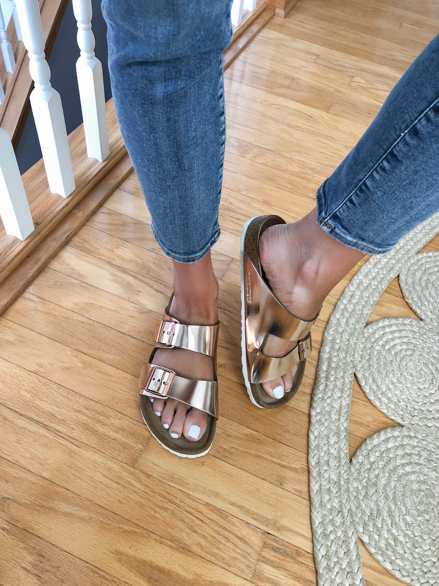 evereve Mother's Day sale 2019, rose gold Birkenstocks