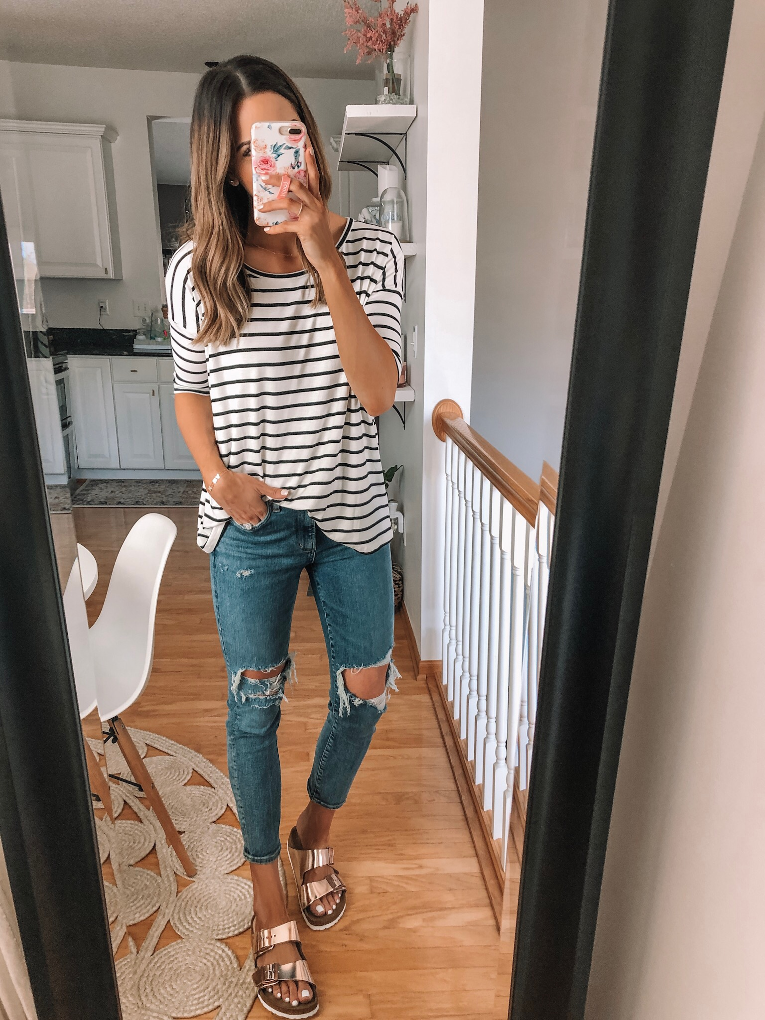 Sunday in Brooklyn stripe swing tee, evereve Mother's Day sale 2019