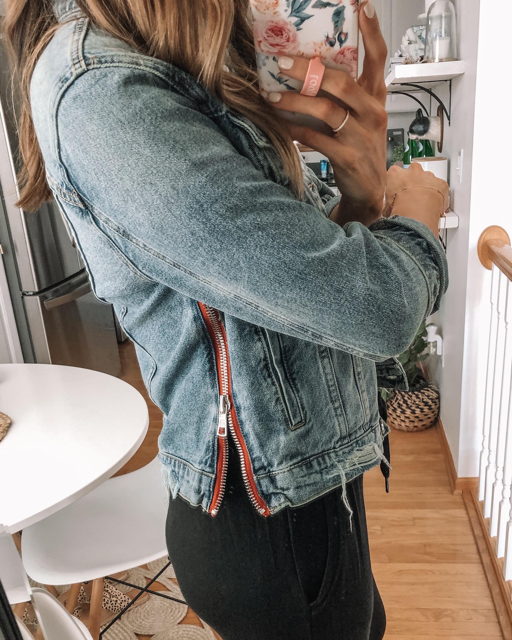 evereve Mother's Day sale 2019, blanknyc red fury denim jacket