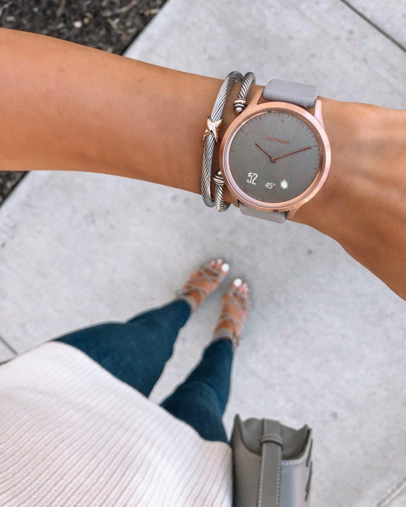 Garmin vivomove HR smart watch review, best hybrid watch, women's smart watch, Minneapolis blogger
